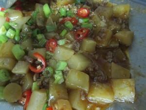 Cách hay cho món củ cải xào thịt băm - 10