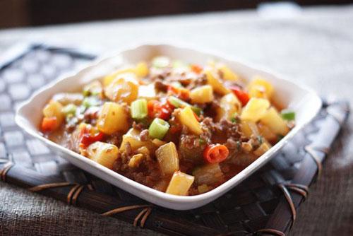 Cách hay cho món củ cải xào thịt băm - 12