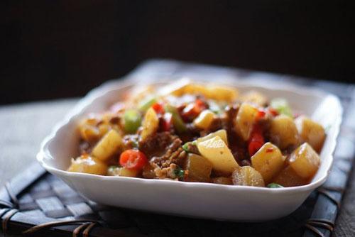 Cách hay cho món củ cải xào thịt băm - 13