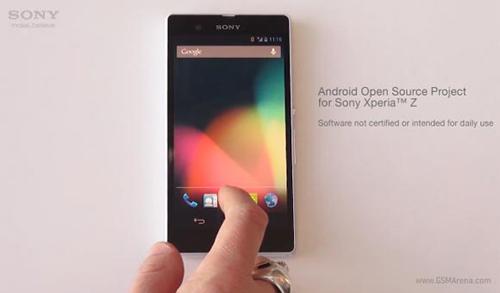 Sony tung bản ROM AOSP Android 4.2 cho Xperia Z - 1