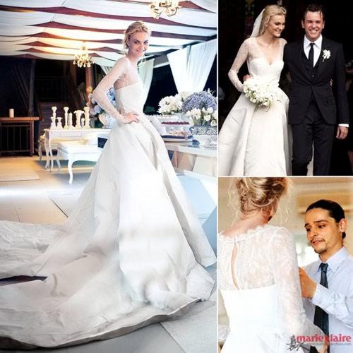 Bóc mác váy cưới của mỹ nhân thế giới - 9