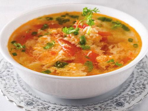 Canh trứng gà cà chua: Phòng nhiều bệnh - 1