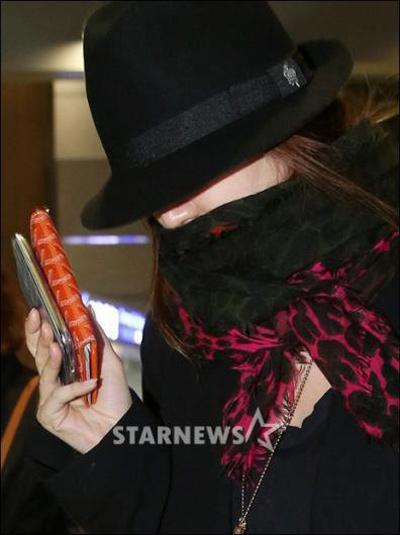 Yoon Eun Hye bịt ninja trở về Hàn Quốc - 4