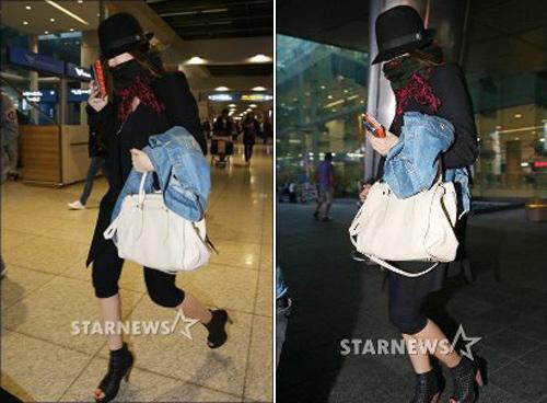 Yoon Eun Hye bịt ninja trở về Hàn Quốc - 7