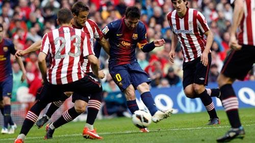 Messi phá kỉ lục của CR7 ngày Barca mất điểm - 1