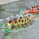 Tin tức trong ngày - Chùm ảnh: Đua thuyền rồng trên kênh Tàu Hủ