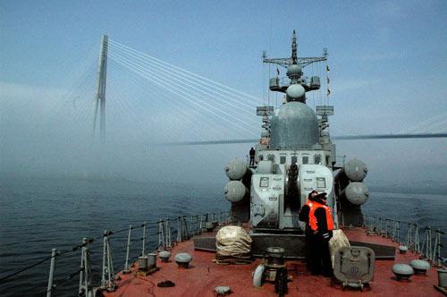 Xem tàu chiến Nga phóng tên lửa hạ mục tiêu - 5