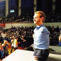 Lịch trình của Nick Vujicic tại Việt Nam