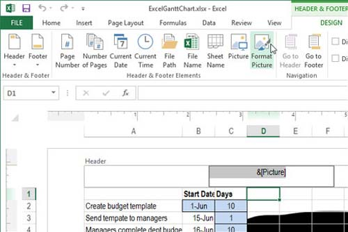 Cách chèn chữ, logo chìm vào Microsoft Excel 2013 - 9