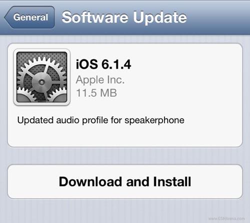 Apple cập nhật iOS 6.1.4 cho iPhone 5 - 1