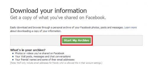 Đơn giản sao lưu dữ liệu Facebook về máy tính - 3
