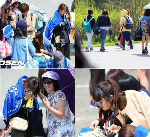 Fan khóc như mưa vì Yesung nhập ngũ - 12