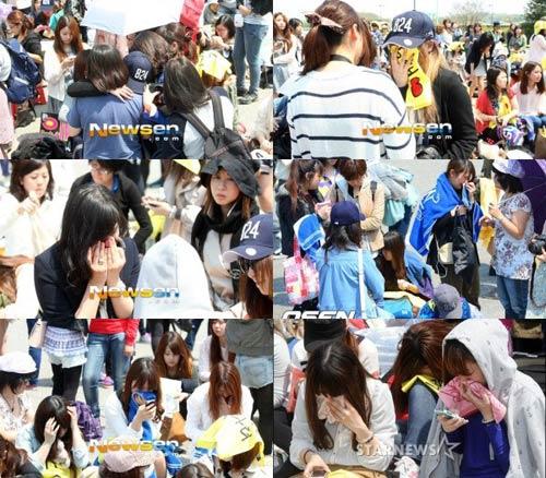 Fan khóc như mưa vì Yesung nhập ngũ - 2