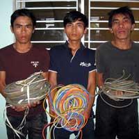 Xóa sổ nhóm cắt trộm dây điện chiếu sáng