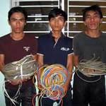 Tin Đà Nẵng - Xóa sổ nhóm cắt trộm dây điện chiếu sáng