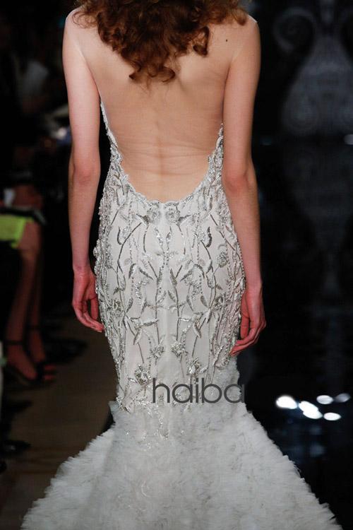 Khoe lưng trần - xu hướng váy cưới 2014 - 10