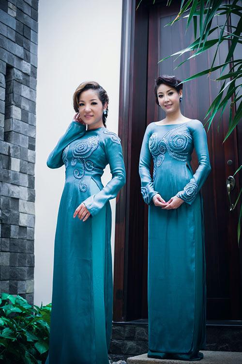 Hà Kiều Anh, Thúy Nga khoe dáng - 1
