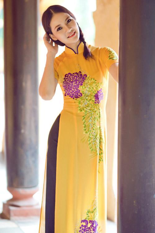 Trần Thị Quỳnh điệu đà áo dài vàng chanh - 13
