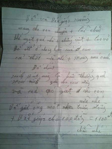 Rơi nước mắt trước bức thư bố gửi con xa nhà - 1
