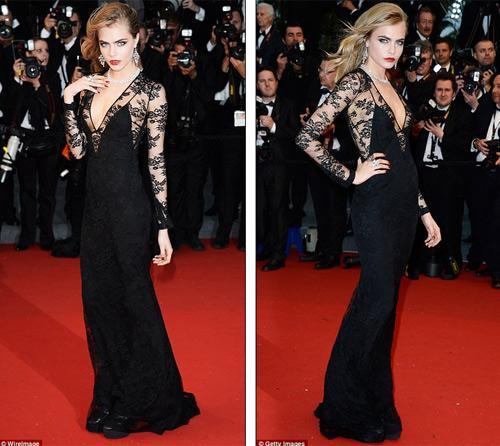 Cindy Crawford hút mắt ở thảm đỏ Cannes - 8