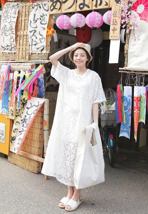 Cách mặc váy maxi chống nắng hiệu quả - 12