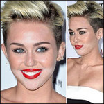 Thời trang - Miley Cyrus mặt lem nhem phấn