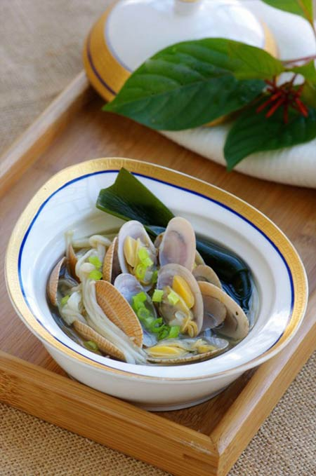 Canh ngao nấu nấm ngọt mát ngày hè - 11