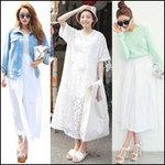 Thời trang - Cách mặc váy maxi chống nắng hiệu quả