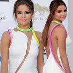 """Thời trang - Selena Gomez """"úp mở"""" cơ thể với màn tuyn"""
