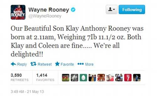 Rooney hào hứng khoe con trai thứ hai - 3