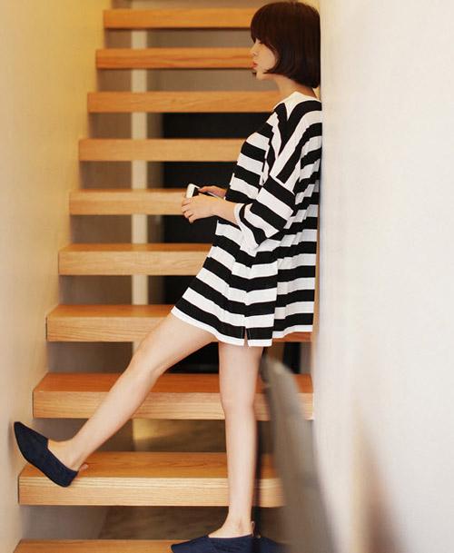 Biến hóa sáng tạo với váy áo kẻ sọc - 6