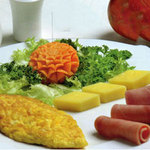 Ẩm thực - Ngon tuyệt trứng cuộn dăm bông, phô mai