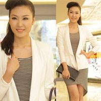 Học Á hậu Thùy Trang mix trắng-đen
