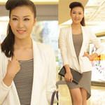 Thời trang - Học Á hậu Thùy Trang mix trắng-đen