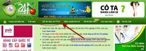 Đã có đáp án đề thi môn Sinh TN 2013 - 1