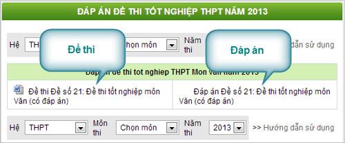 Đã có đáp án đề thi môn Sinh TN 2013 - 3