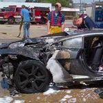 Ô tô - Xe máy - Lamborghini Gallardo phát nổ trong trạm xăng