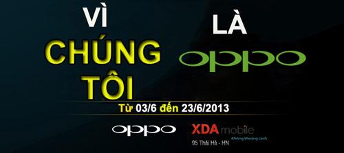 Đến XDA Mobile, nhận điện thoại Oppo miễn phí - 1