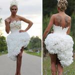 Phi thường - kỳ quặc - Váy cưới đẹp nhất làm từ giấy vệ sinh