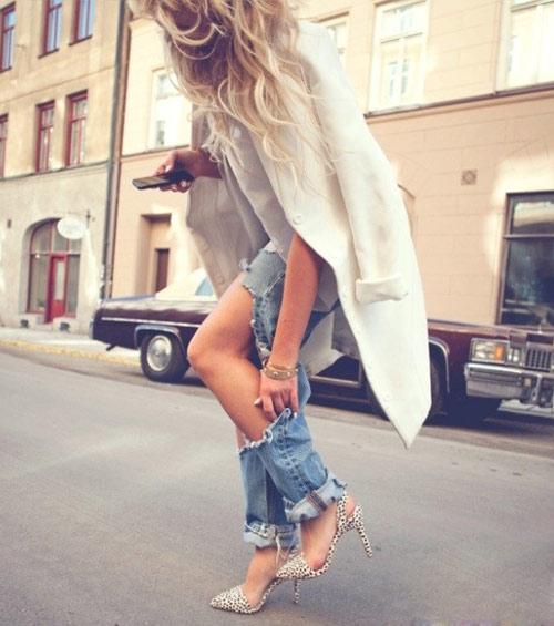 Tự tay làm quần jeans rách cực chất! - 10