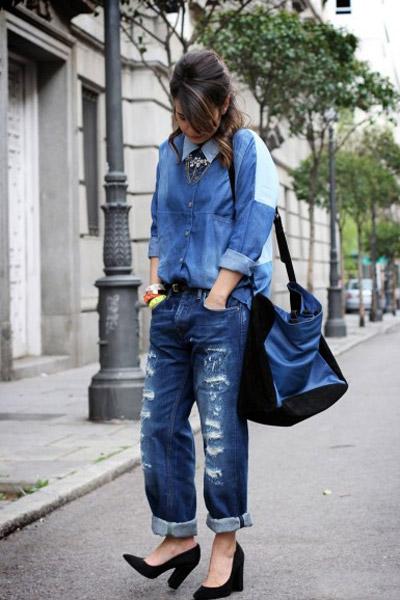 Tự tay làm quần jeans rách cực chất! - 11