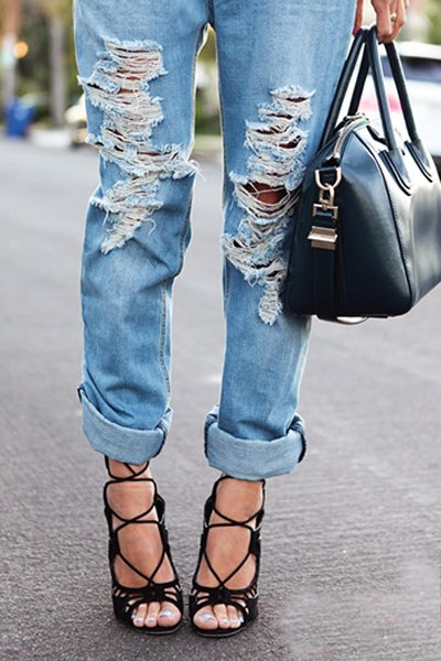 Tự tay làm quần jeans rách cực chất! - 8