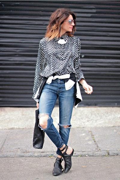Tự tay làm quần jeans rách cực chất! - 9
