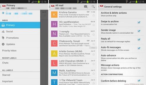 Google cập nhật Gmail 4.5 cho Android - 1