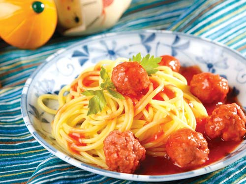 Mì Ý chay và mặn - 1