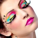 Làm đẹp - Ấn tượng với khuôn mặt make up màu neon