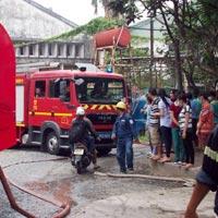 Cháy công ty giày da, 3 công nhân bị thương