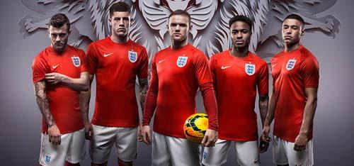 ĐT Anh ra mắt trang phục dự World Cup 2014 - 1