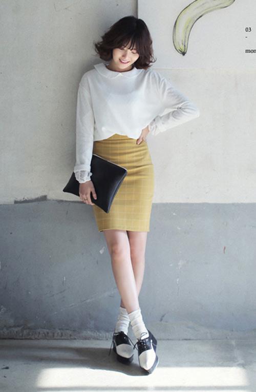 Chân váy đẹp cho nữ công sở ngày hửng nắng - 11