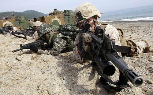Chùm ảnh: Quân đội Mỹ - Hàn tập trận đổ bộ - 10